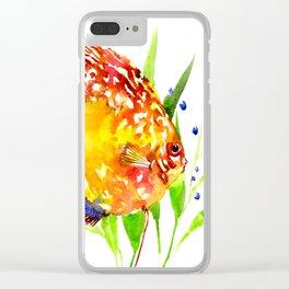 Discus in Aquarium Clear iPhone Case