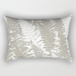 Gray Ferns Photo Art Print Pattern Rectangular Pillow