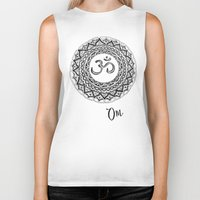 om Biker Tanks featuring OM by Fie Bystrup