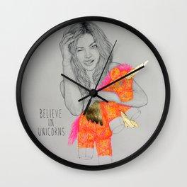 BELIEVE IN UNICORNS Wall Clock