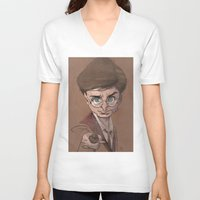 harry V-neck T-shirts featuring Harry! by nachodraws