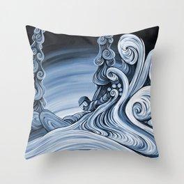 'Powder Swirls' Throw Pillow