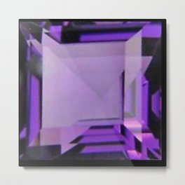 PURPLE FEBRUARY AMETHYST GEMS Metal Print