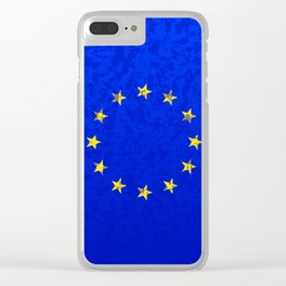EU Flag Clear iPhone Case