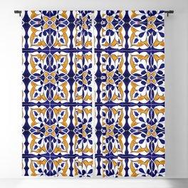 Talavera Mexican Tile Blackout Curtain