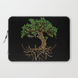 Rope Tree of Life. Rope Dojo 2017 black background Laptop Sleeve