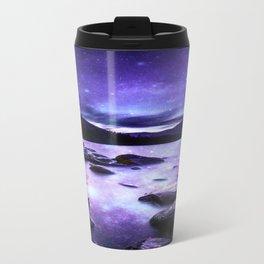 Magical Mountain Lake Purple Travel Mug