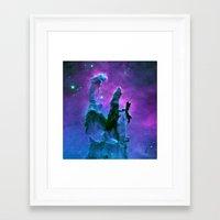 nebula Framed Art Prints featuring Nebula Purple Blue Pink by 2sweet4words Designs