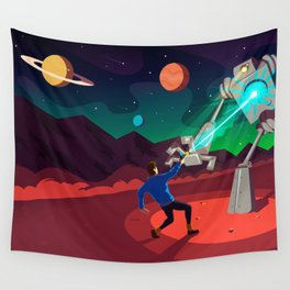 Robot Planet Wall Tapestry