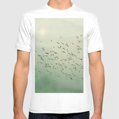 Over the Mountain Tops MEDIUM Mens Fitted Tee White