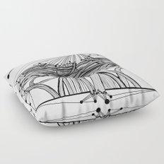 the Roads Floor Pillow