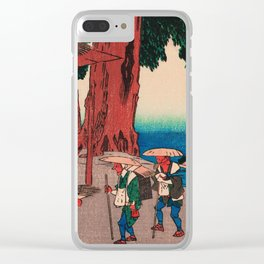 Travelers at Minakuchi station Japan Clear iPhone Case