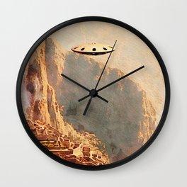 Flying Saucer - Machu Picchu Wall Clock