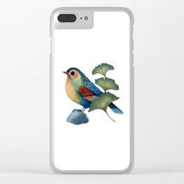 Ginkgo Bird Clear iPhone Case