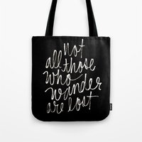 tolkien Tote Bags featuring J. R. R. Tolkien quote by molly ennis