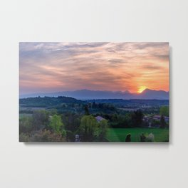 Evening in the countryside of Friuli Metal Print