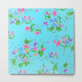 floral abstract fiesta Metal Print