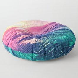 Pastel Sunset Waters Floor Pillow