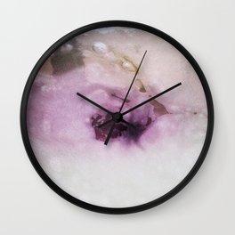 Marbled Purple Wall Clock