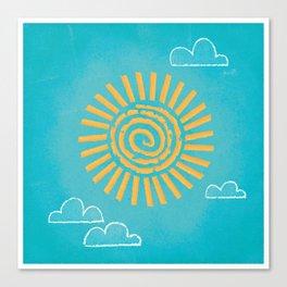 Primitive Sun (Cool Variant) Canvas Print