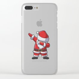 Dabbing Santa Clear iPhone Case