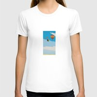 hot air balloons T-shirts featuring Four Hot Air Balloons by Shelley Chandelier