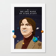 We are Made of Star Stuff - Carl Sagan Canvas Print