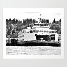 Puget Sound Ferry Art Print