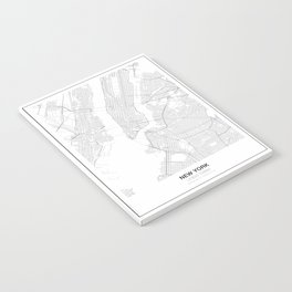 New York, United States Minimalist Map Notebook