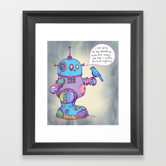 I was going to say something cute and witty... Framed Art Print