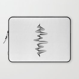 Soundwave Music Audio black and white Musical Abstract 80s Art design home wall bedroom decor Laptop Sleeve