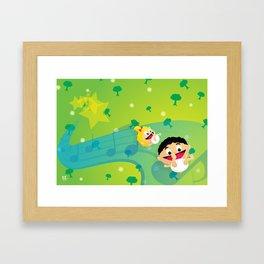 Music for Babies Framed Art Print