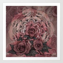 Rose Mandala Art Print