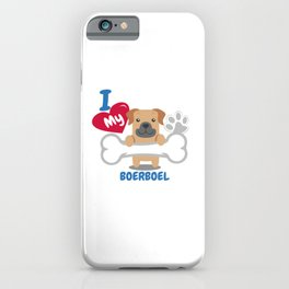Boerboel Cute Dog Gift Idea Funny Dogs iPhone Case