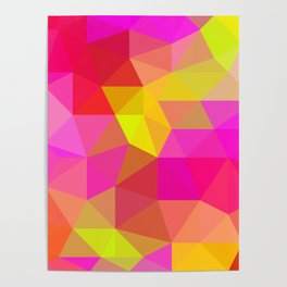 Citrus Candy Low Poly Poster