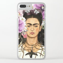 Frida Flower abstract Clear iPhone Case