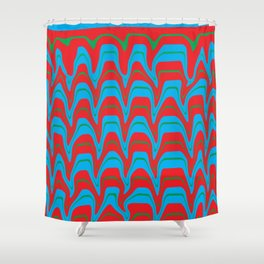 Digital Vector Art Hot Earth Shower Curtain