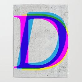 D Letter Poster