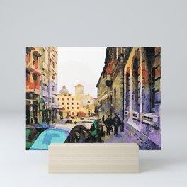 Catanzaro: course with cathedral Mini Art Print