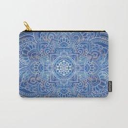 Sri Yantra  / Sri Chakra Blue Watercolor Carry-All Pouch