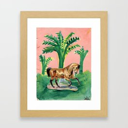 Tropical Cleo - The Wild Horse Framed Art Print
