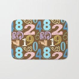 Numberology Bath Mat