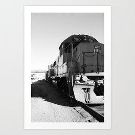 train engine Art Print