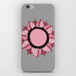 Rose, Pink & Gray Mandala iPhone Skin