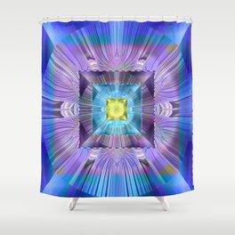 Power Meditation Mandala Feng Shui Wealth Attractor Shower Curtain