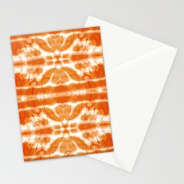 Orange Tie-Dye Twos Stationery Cards