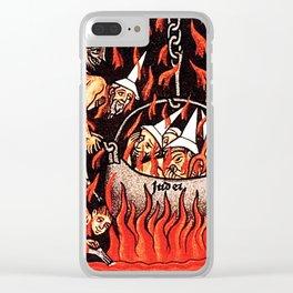 Devils cooking Dunces Clear iPhone Case
