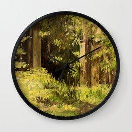 Woodland Landscape Nature Art Wall Clock