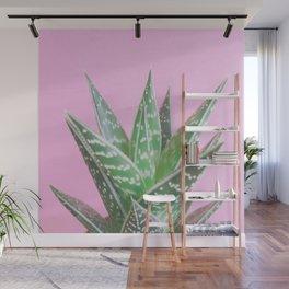 Pink Aloe Tiki Wall Mural