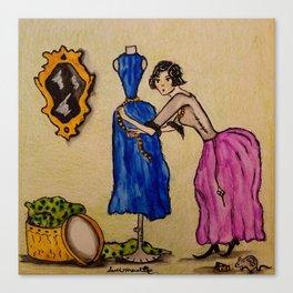 Lady Drizella - Th Dressmaker Canvas Print